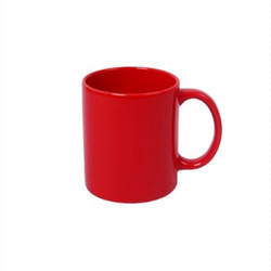 11oz Glossy Red Mug Light Weight Perfect Gift Certified Product  Hard Coated