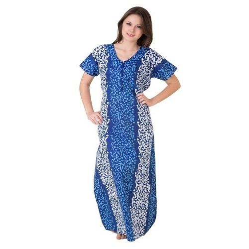 973314d47 Maxi Full Length Ladies Cotton Nightwear