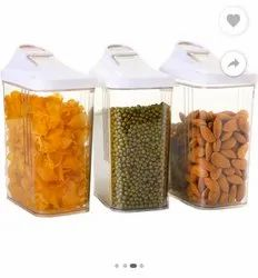 Food Storage Container Kitchen Containers, Capacity: 1100