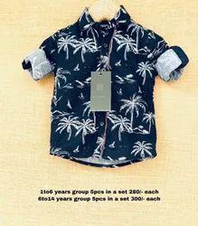 Lycra Cotton Boys Shirts