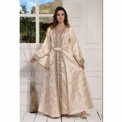 Party Wear Full Sleeves Silk Long Gowns, Size: S-xxl