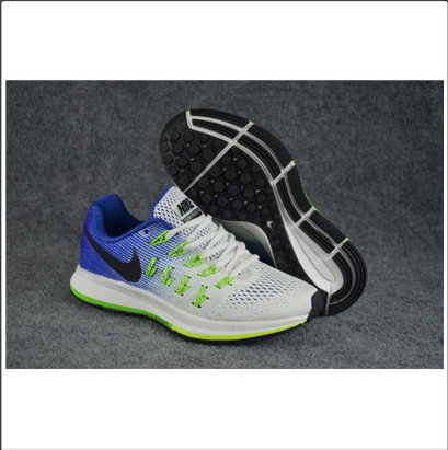 641ba3adc3cc Blue And White And Red Men Nike MV10033 Zoom Pegasus 33 Running Shoes  Replica