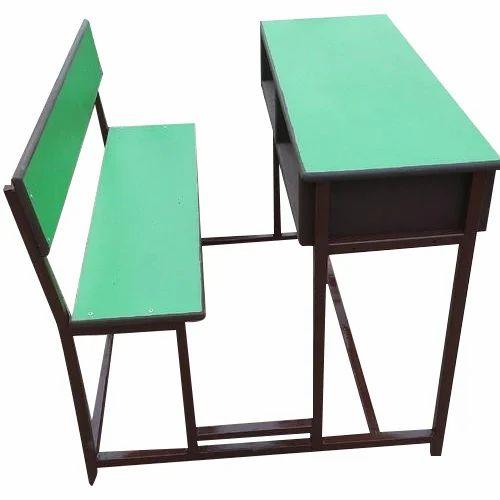 Wooden Two Seater Green School Desk Dimensions 3 X 1 2 X 14 Feet