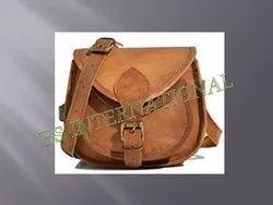 Solid Natural Leather Ladies Purse/Handbag, Size: 12-15