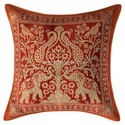 Brown Brocade Throw Pillow Cushion Covers