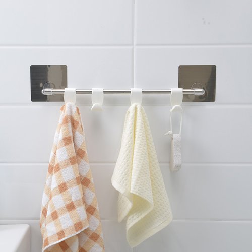 magic sticker series self adhesive bathroom towel hanger hook rail rh indiamart com bathroom towel hanger rod bathroom towel hanger height