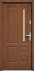 Polished Five Panel Teak Wood Door