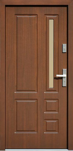 Polished Five Panel Teak Wood Door Rs