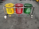 Bio Medical Waste Trolley Stainless Steel 15 Ltr