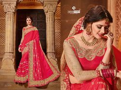 Indian Women Red Color Silk Saree