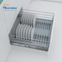 Modern Pvc Cutlery Plate Organizer For Drawer Basket And Tandem