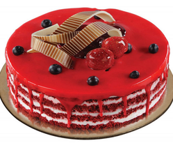 Amazing Cgc1190 Red Velvet With Cherry Birthday Cakes At Rs 645 Piece Birthday Cards Printable Benkemecafe Filternl