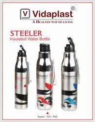 Vidaplast Round Stainless Steel Solar Single Wall Insulated Water Bottle