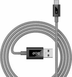 Bulletproof Kevlar Fibre Dott Stark Type-c 1 Meter White Tough Data Charging Cable