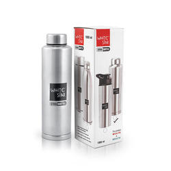 WhiteStar Stainless Steel Water Bottle 500 ml, 750 ml, 1000 ml ( Single Wall Fridge Bottle )