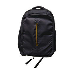 Polyester Black And Yellow Office Laptop Backpack