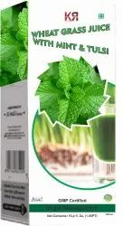Wheat Grass Juice with Mint and Tulsi