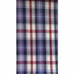 Polyester Viscose Check Uniform Suiting Fabric, Check/stripes