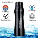 Probott Stainless Steel Double Wall Vacuum Flask In Shape Sports Bottle 600ml PB 600-04