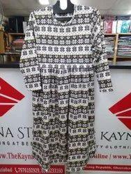 Multicolor Woolen Long Dress For Woman
