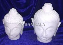 Marble Buddha Heads