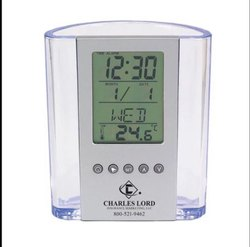 Pen Stand with Digital Clock