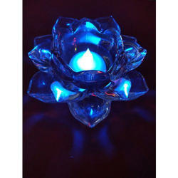 Crystal Lotus Candle