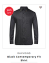 Black Contemporary Fit Shirt
