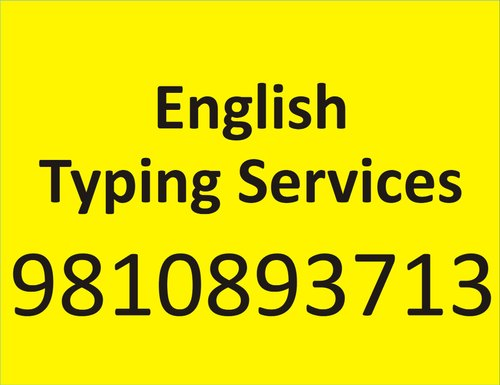 English Typing Services, Typin Speed