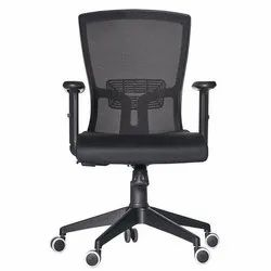 Black Fonzel 1820113 Indus Medium Back Office Chair