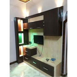 Brown Wall Mounted TV Unit