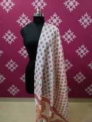 Hand Block Printed Cotton Dupatta