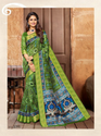 Work Saree Shangrila Collection Kanjivaram Silk Green Saree- 2395