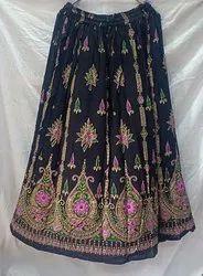 Crape Reyon Long Jaipuri Skirt