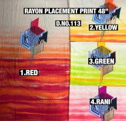 Rayon Placement Print