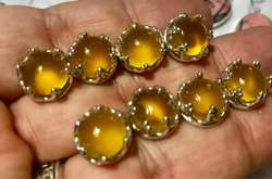 Yellow Chalcy Sterling Silver Studs
