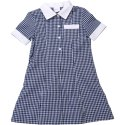 Blue And White Checked Kids School Uniform