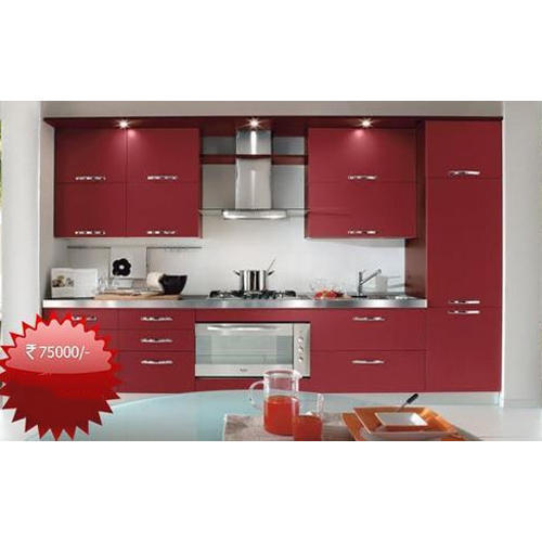 Kutchina Modular Kitchen Price At Rs 75000 Number: Stylish Modular Kitchen, Lakdi Ka Modular Rasoi Ghar