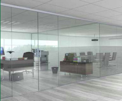 MANTION France Decorative Manual Glass Door, For Office