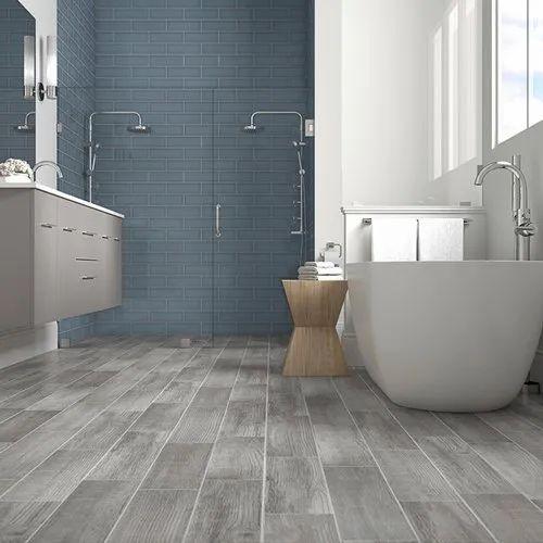 Bathroom Floor Tile Size 12 18inch, Grey Wood Tile Bathroom