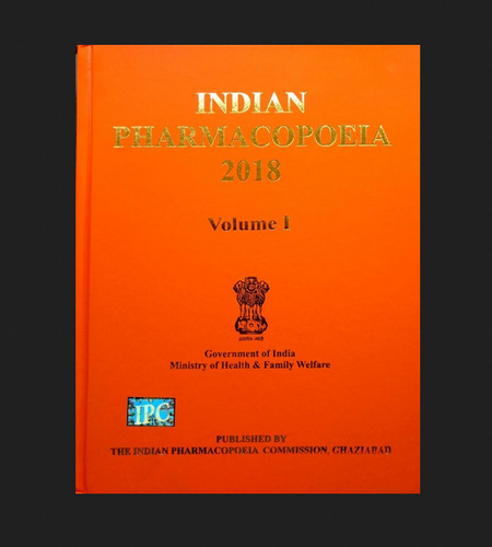 Indian Pharmacopoeia 2018 Educational Book Agency Service