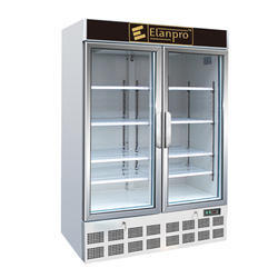 White Stainless Steel Double Door Visi Cooler, +5 To +22, 2