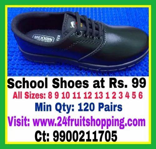 Boys Mexxon School Shoes, Size: 8 9 10