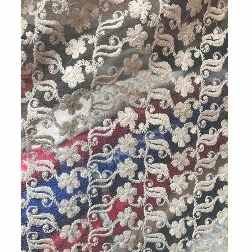 Designer Embroidered Net Fabric, Use: Garments