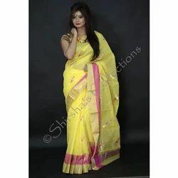 314b451f6e2ad7 Partywear Chanderi Saree at Rs 3000 /piece | चंदेरी साड़ी ...