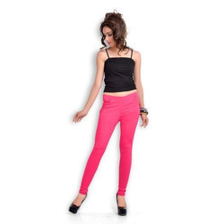 Straight Pink Ladies Leggings, Size: XL