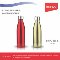 Stainless Steel Water Bottle (600 C)