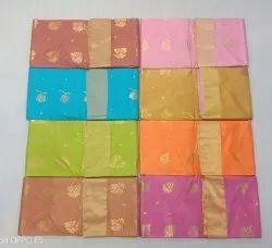 Party wear Chanderi Silk Cotton Saree, Machine wash, 6.5 m