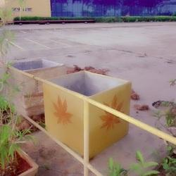 Square Cement Garden Planter