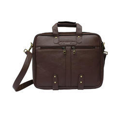 Brown Artificial Leather Executive Bags